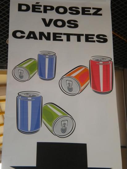 Affiche d'indication des containers pour l'Alu du Coeur