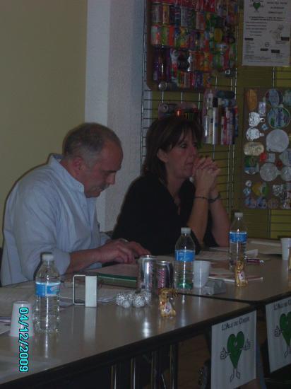 Frédéric le président et la secrétaire Isabelle